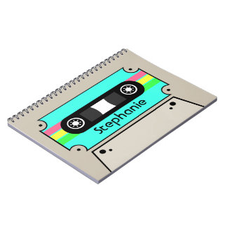 Cassette Tape Personalized Spiral Notebook