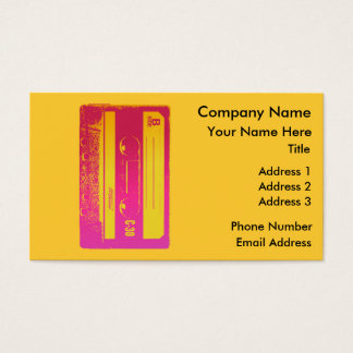 Cassette Tape Pink & Yellow Business Card