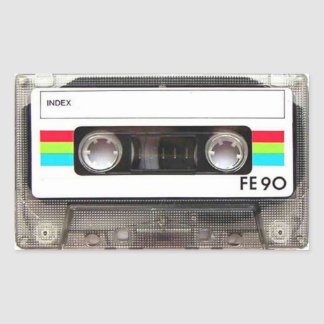 Cassette Tape Rectangular Stickers