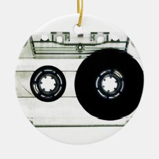 Cassette Tape Round Ceramic Decoration
