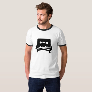 Cassette Tape Skull and Bones T-Shirt