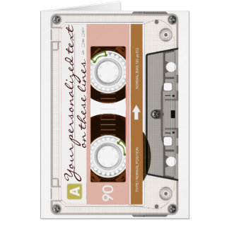 Cassette tape - tan - card