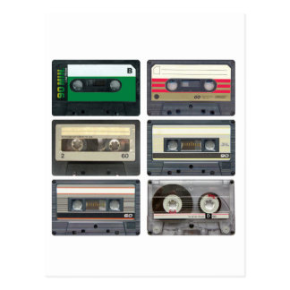 Cassette Tapes Postcard