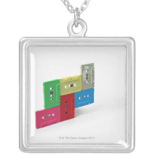 Cassette Tapes Silver Plated Necklace