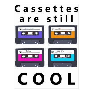 Cassettes are still cool postcard