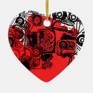 """Cassettes"" design made for true dreamers! Ceramic Heart Decoration"