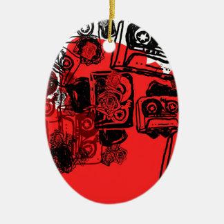 """Cassettes"" design made for true dreamers! Ceramic Oval Decoration"