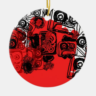 """Cassettes"" design made for true dreamers! Round Ceramic Decoration"