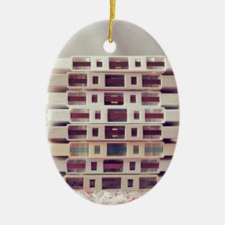 Cassettes Pattern Ceramic Oval Decoration