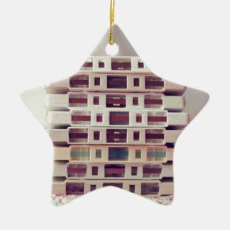 Cassettes Pattern Ceramic Star Decoration