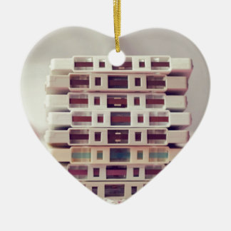 Cassettes Pattern Christmas Ornament
