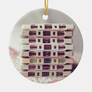 Cassettes Pattern Round Ceramic Decoration