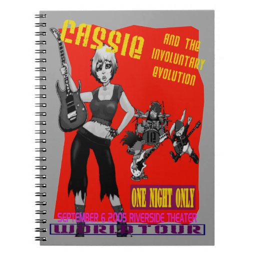 Cassie and The Involuntary Evolution Spiral Notebook