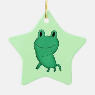 Cassie's frog ceramic star decoration