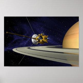 Cassini Saturn Poster