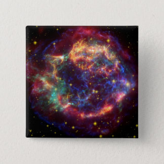 Cassiopeia A 15 Cm Square Badge