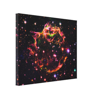 Cassiopeia A SN 1680 Nebula Gallery Wrapped Canvas