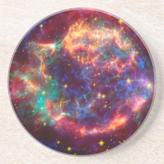 Cassiopeia a Spitzer Sandstone Coaster