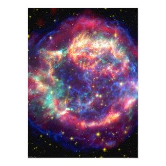 Cassiopeia A Supernova ... Death Becomes Her 14 Cm X 19 Cm Invitation Card