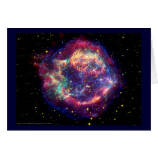 Cassiopeia A Supernova ... Death Becomes Her Greeting Card
