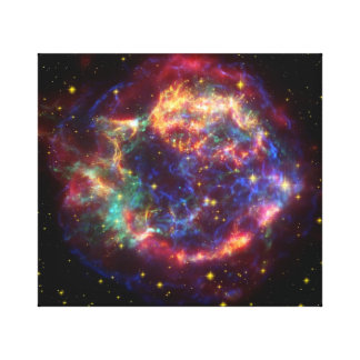 Cassiopeia supernova gallery wrapped canvas