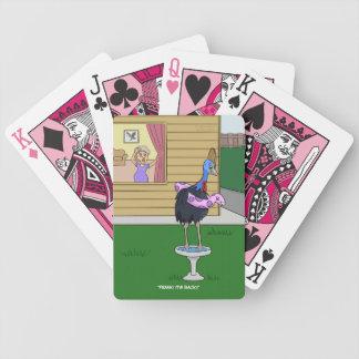 Cassowary Bird Bath Playing Cards