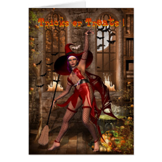 Cast a Halloween spell Greeting Card