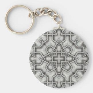 Cast Iron Basic Round Button Key Ring