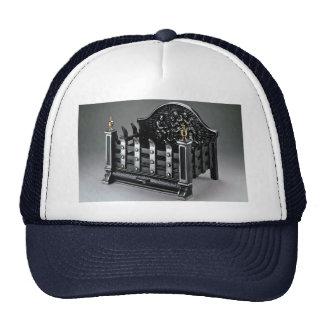 Cast iron fire basket hats