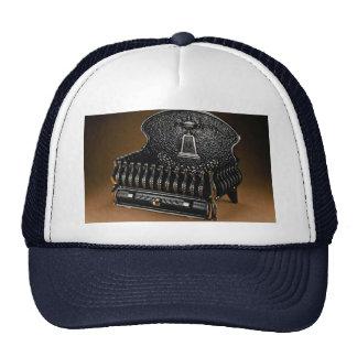 Cast iron fire basket high back hat