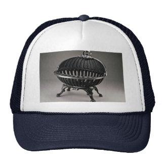 Cast iron fire basket oval design mesh hat