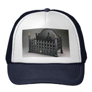 Cast iron fire basket portcullis design trucker hat