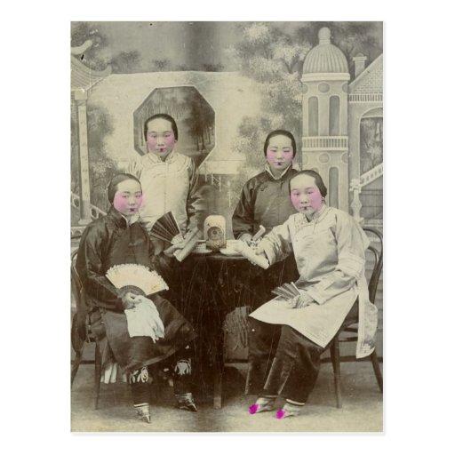 Cast members, Beijing opera, circa 1880 Postcards