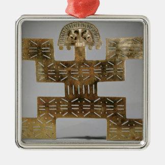 Cast Tumbaga pectoral, from Huaca del Dragon Christmas Ornament