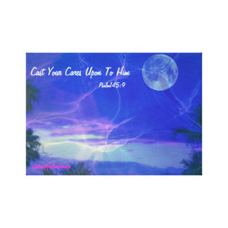 CAST YOUR CARES ON TO HIM CANVAS PRINT