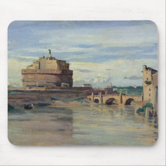 Castel Sant' Angelo and the River Tiber, Rome Mouse Pad