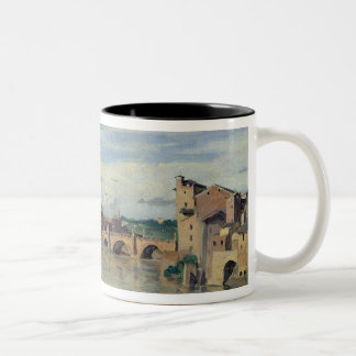 Castel Sant' Angelo and the River Tiber, Rome Two-Tone Coffee Mug
