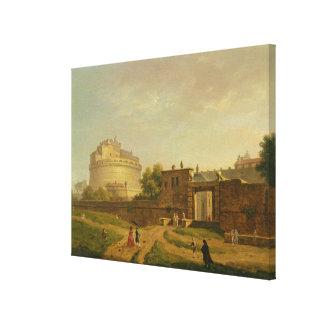 Castel Sant'Angelo, Rome, 1776 (oil on canvas) Canvas Print