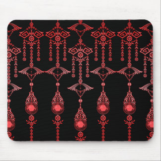 CASTELLINA JEWELS: ORNATE RED GOTH MOUSE MAT
