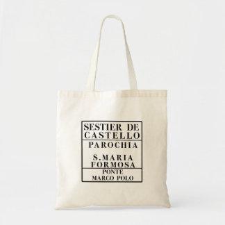 Castello-Formosa-Marco Polo, Venice, Street Budget Tote Bag