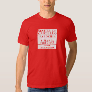 Castello-Formosa-Marco Polo, Venice, Street Tee Shirts