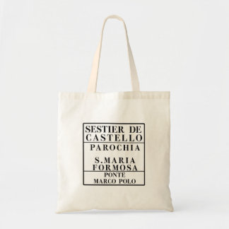 Castello-Formosa-Marco Polo, Venice, Street Canvas Bag