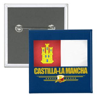 Castilla-La Mancha Flag 15 Cm Square Badge