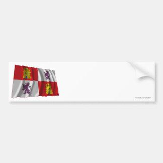 Castilla y León waving flag Bumper Sticker