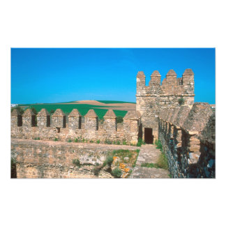 Castillo de Las Aguzaderas is a castle with a Photo Print