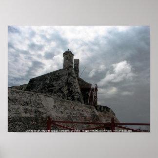 Castillo de San Felipe de Barajas Cartagena, Colom Poster