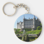 Castle and gardens basic round button key ring