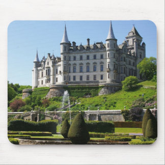 Castle and gardens mouse mat