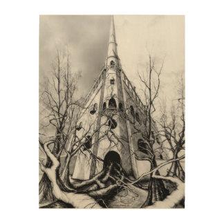 Castle at 600 wood print