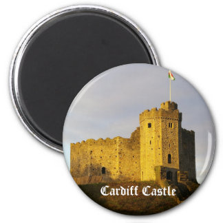 Castle at Sunset 6 Cm Round Magnet